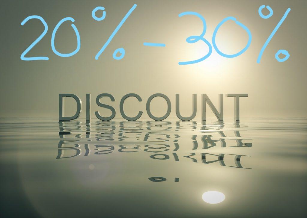 20-30% beneden de marktprijs aankopen