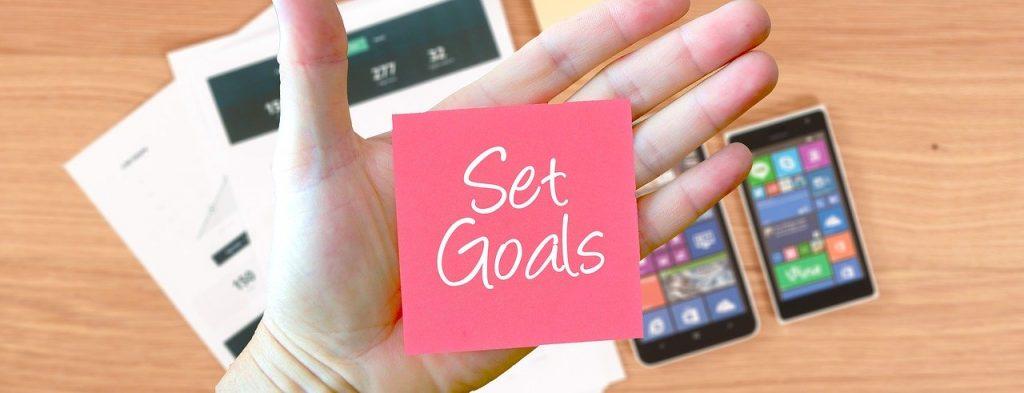 stel je doelen